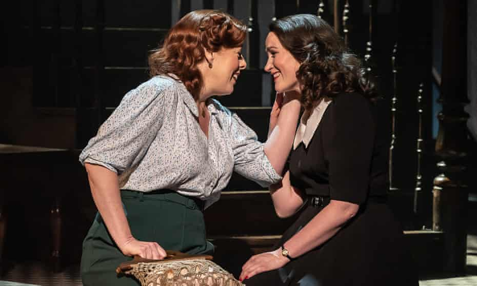 Giselle Allen as Anna and Gillene Butterfield as Rose Maurrant in Street Scene at Leeds Grand.