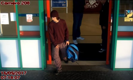 CCTV image of Ahmed Hassan in the port of Dover before his arrest
