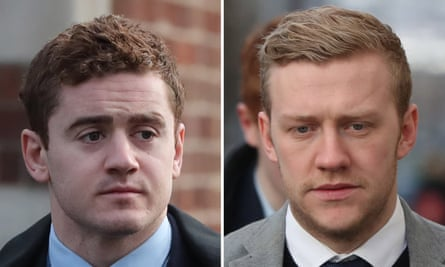 Paddy Jackson, left, and Stuart Olding