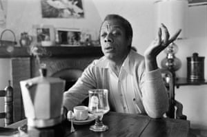 James Baldwin at home in Saint-Paul-de-Vence, France, in 1979.