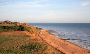 The beach at Mundesley.