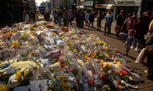 Flowers laid in tribute to the victims after the attack in 1993.