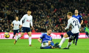 Christian Eriksen finishes a dazzling team move to put Tottenham 4-0 ahead.