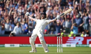 Ben Stokes celebrates after hitting the winning runs at Headingley. 'It will be spoken about for decades'.