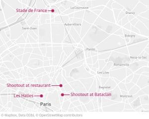 Paris attacks locator