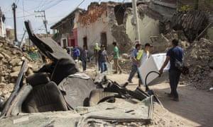 Earthquake damage in Jojutla
