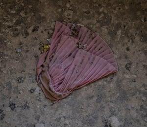 A discarded skirt