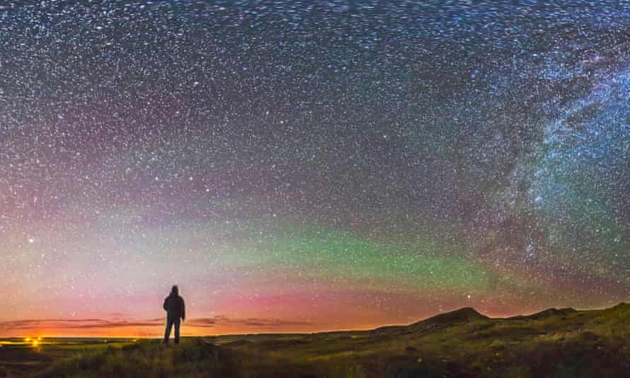 Under the stars at Grasslands national park, Canada.