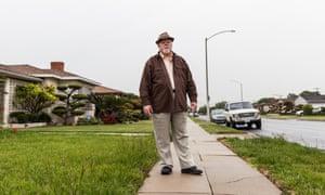 Steve Hodel on Norton Avenue, the area where the Black Dahlia's body was found.