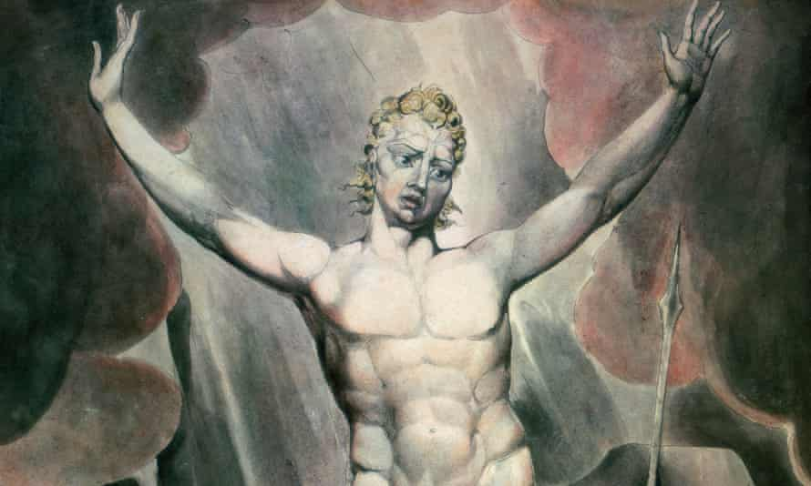 detail from Satan Arousing the Rebel Angels (1808) by William Blake, inspired by Paradise Lost.