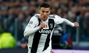 Cristiano Ronaldo in action for Juventus against Atlético Madrid this month.