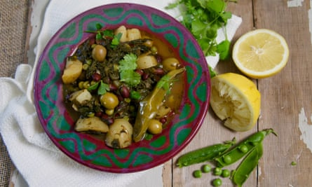 Berber stew with red haricot beans