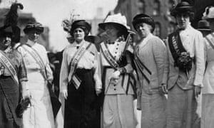 Suffragettes in 1913.