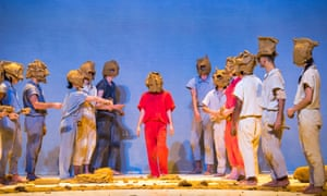Three tonnes of clay was used by the dancers in Icon by GöteborgsOperans Danskompani, Sidi Larbi Cherkaoui and Antony Gormley at Sadler's Wells, London, October 2018.