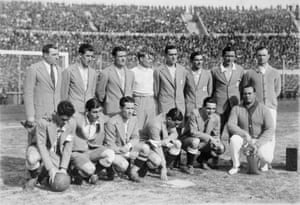 The Argentina team that lost the 1930 World Cup final to Uruguay.