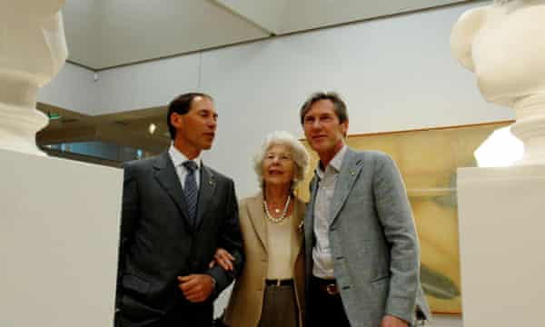 Luca Belgiorno-Nettis, right, with Guido and Amina Belgiorno-Nettis at the Art Gallery of NSW