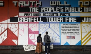A mural in memory of the victims of the Grenfell tower fire.