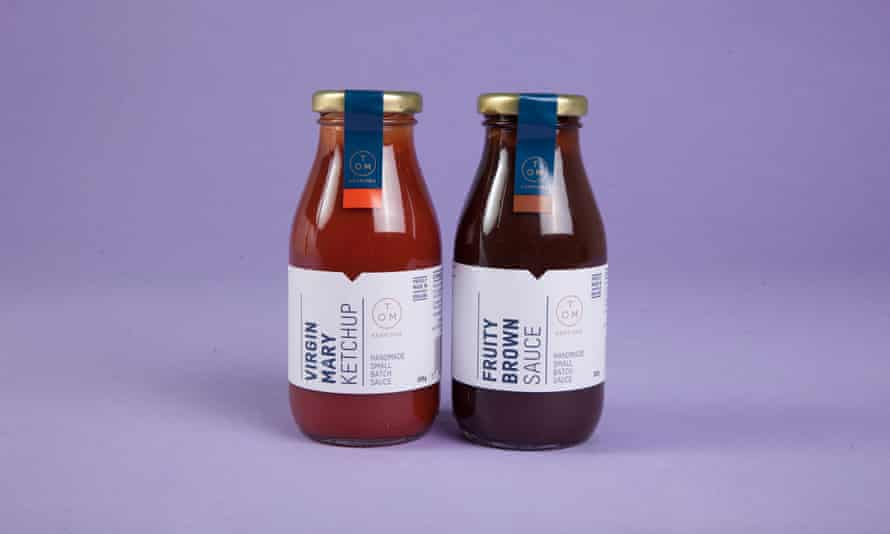 Tom Kerridge ketchup and brown sauce