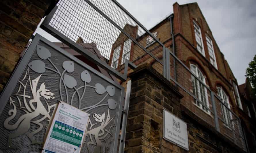 Shuttered primary school in London