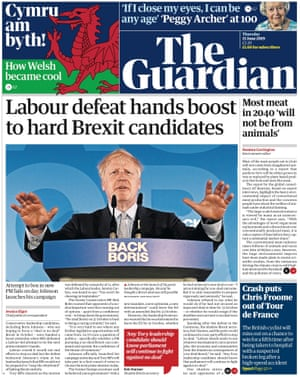 Guardian front page, Thursday 13 June 2019