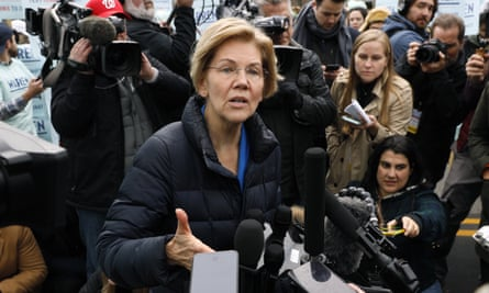 Elizabeth Warren said her plan would require employers to transfer to the government funds that would be spent on private insurance for workers.