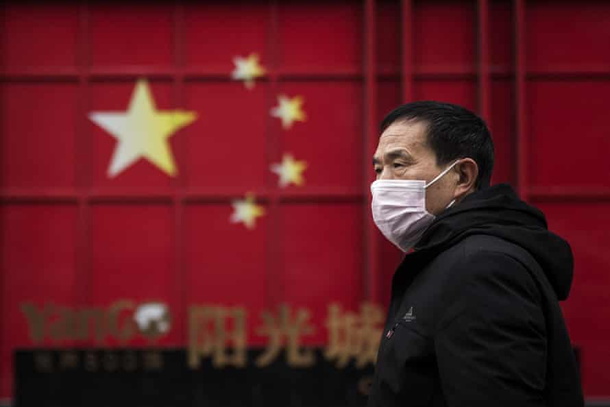 A man in Wuhan on February 10, the 19th day of the transport lockdown.