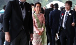 State Counsellor of Myanmar Aung San Suu Kyi attended the royal ceremony.