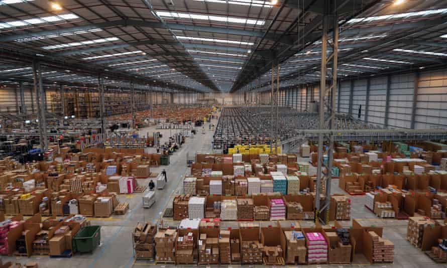 Amazon 'fulfilment centre' warehouse in Peterborough.