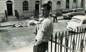 Joe Orton outside his Islington home.