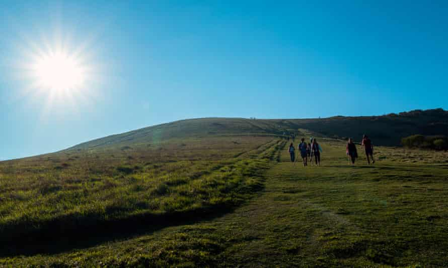 Walking on the South Downs.