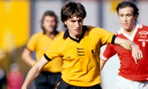 John Richards, playing for Wolves against Manchester United in 1979. Because why not?