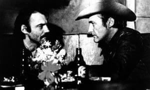 Bruno Ganz, left, and Dennis Hopper in The American Friend, 1977.