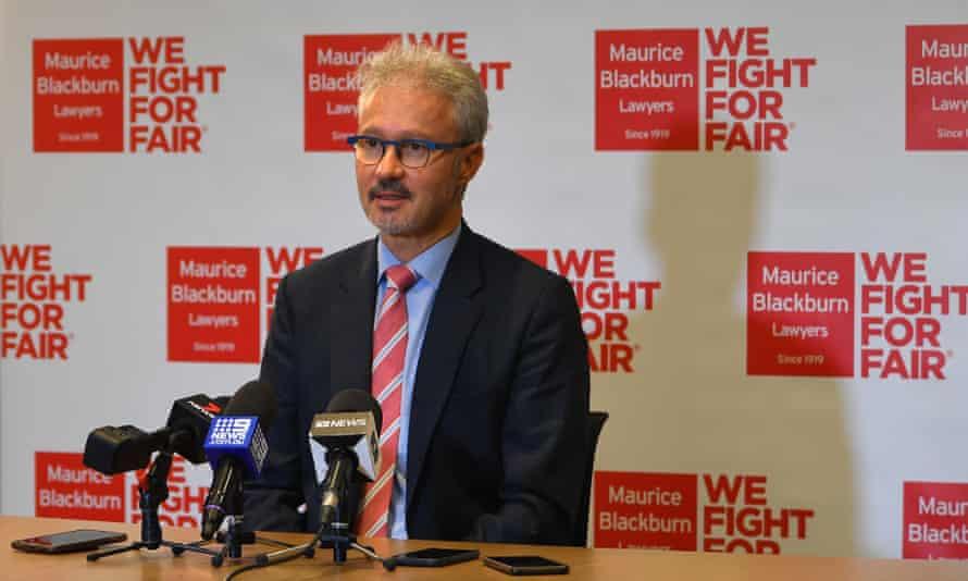 Maurice Blackburn principal lawyer Josh Bornstein addresses the media on Tuesday
