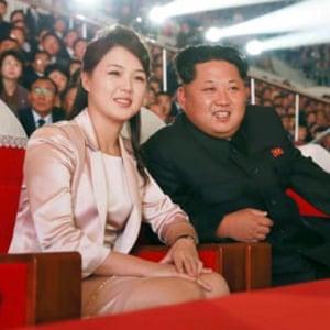 Ri-Sol-ju, a former cheerleader, with her husband, the North Korean dictator Kim-Jong-un.