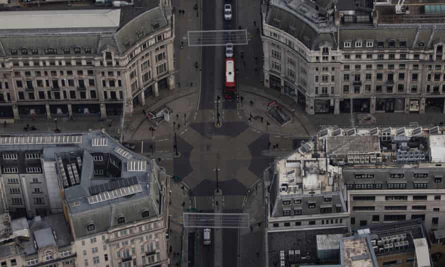 A quiet Oxford Circus in London
