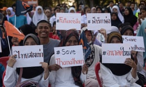 Future Forward party supporters rally ahead of Thailand's general election.