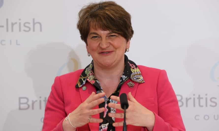 FirstmMinister Arlene Foster at a conference in Lough Erne resort in Enniskillen, County Fermanagh