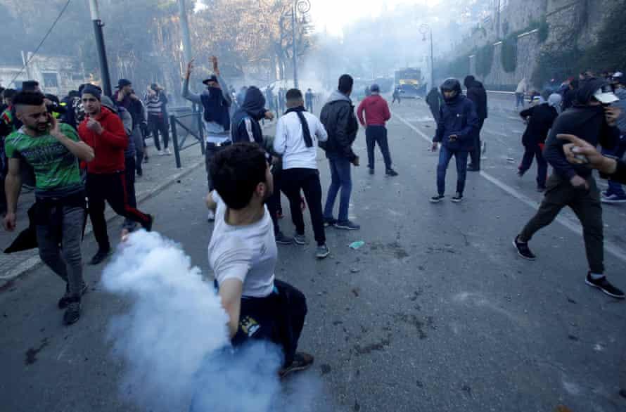 Demonstrators in Algiers on Friday.