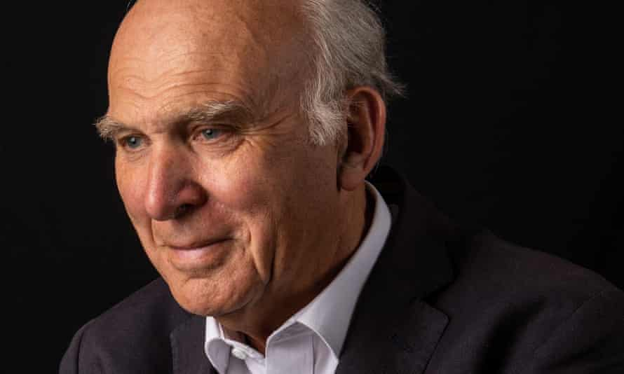 Sir Vince Cable photographed at his home in south-west London.