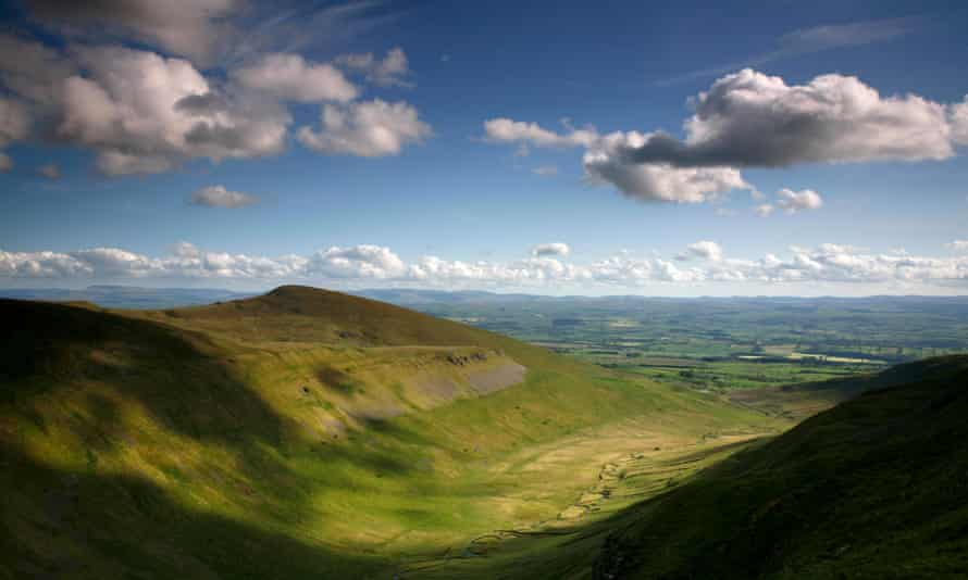 A view from the Pennine Way of Murton Pike in the Eden Valley, Cumbria.
