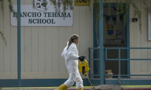 FBI investigators process evidence at the Rancho Tehama elementary school in Rancho Tehama Reserve on Tuesday.