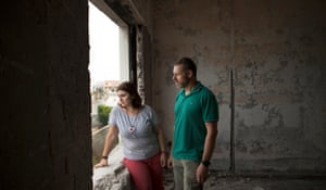 Tasos Gounarides, and his wife Dora, who survived the fires in Greece in July 2018