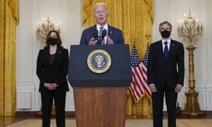 Joe Biden speaks about the evacuations in Kabul.