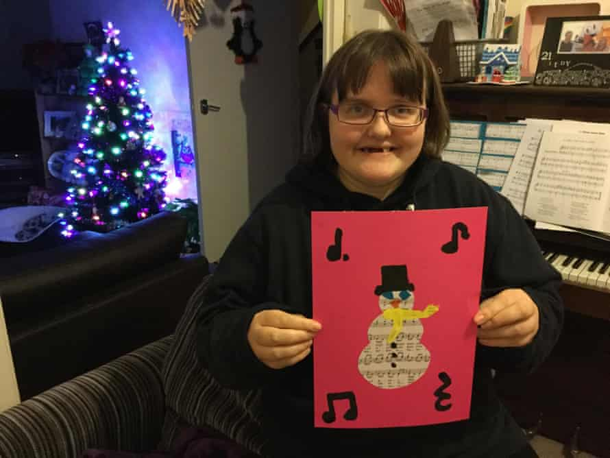 Claire Dyer, 21, who has autism, is home in Swansea for Christmas following a battle with the health board to move her from a unit in Brighton.