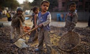 Child labourers in Delhi