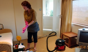 An eastern European cleaner in the Isles of Scilly