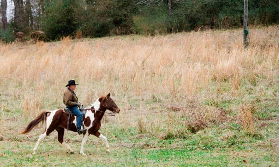 Roy Moore on his way to the polls yesterday.