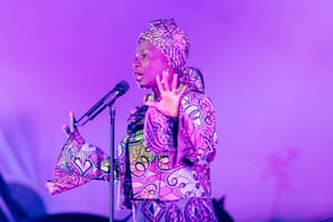 Once in a lifetime ... Angélique Kidjo Africanises songs off Talking Heads' Remain in Light album.