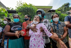 Colombo, Sri Lanka: Family members outside Mahara prison after unrest among inmates