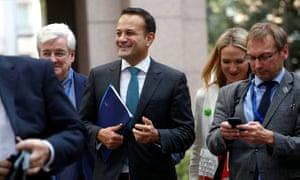 Leo Varadkar arriving at the EU summit meeting in Brussels.